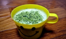 smile matcha latte :-)
